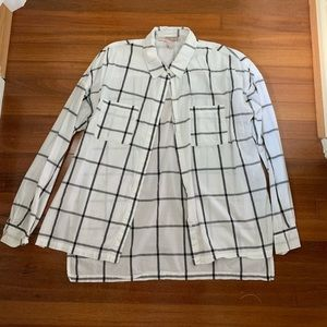 thin long sleeved button down